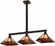 Meyda Tiffany 174448  T  Mission Tiffany Craftsman Brown / Burgundy Kitchen Island Light Fixture