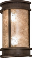 Meyda Tiffany 174791 Wyant Pocket Lantern Classic Rust / Silver Mica Fluorescent Exterior Light Sconce