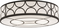 Meyda Tiffany 174907 Revival Deco Timeless Bronze / White Acrylic Fluorescent Ceiling Lighting Fixture