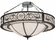 Meyda Tiffany 175031 Personalized Harts Hill Inn White Swirl Acrylic Ceiling Light Fixture