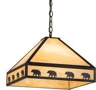 Meyda Tiffany 175104 Bear on the Loose Country Craftsman Bai Ceiling Light Pendant