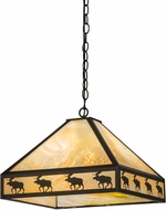 Meyda Tiffany 175105 Moose on the Loose Rustic Craftsman Bai Ceiling Pendant Light