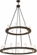 Meyda Tiffany 175414 Loxley Contemporary Timeless Bronze Hanging Chandelier
