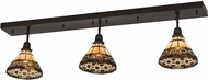 Meyda Tiffany 175529 Ilona Tiffany Craftsman Brown Island Light Fixture