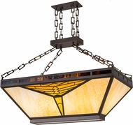 Meyda Tiffany 175804 Nuevo Mission Tiffany Mahogany Bronze Kitchen Island Lighting