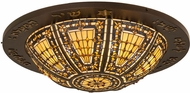 Meyda Tiffany 175998 Tiffany Copper Vein Gold Flush Mount Lighting