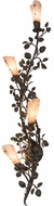 Meyda Tiffany 176714 Vinca Vine Wrought Iron / Silver Mica Wall Sconce
