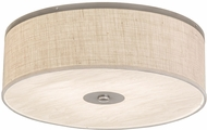 Meyda Tiffany 177129 Cilindro Burlap / Aluminum Flush Mount Lighting Fixture