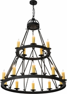 Meyda Tiffany 178008 Lakeshore Satin Black Wrought Iron Ceiling Chandelier