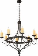Meyda Tiffany 180196 Bottini Wrought Iron Hanging Chandelier