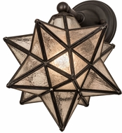 Meyda Tiffany 180419 Moravian Star Contemporary Clear Ripple Outdoor Lighting Sconce