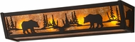 Meyda Tiffany 180440 Bear at Lake Rustic Oil Rubbed Bronze / Amber Mica Bath Lighting