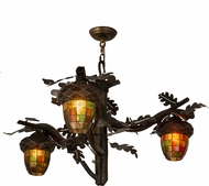 Meyda Tiffany 180442 Acorn Branch Country Dark Burnished Antique Copper Hanging Chandelier