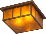 Meyda Tiffany 180849 Hyde Park Double Bar Mission Amber Mica Vintage Copper Indoor / Outdoor Overhead Lighting