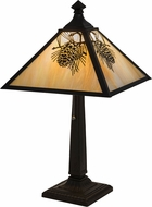 Meyda Tiffany 181590 Winter Pine Country Bai Craftsman Brown Lighting Table Lamp