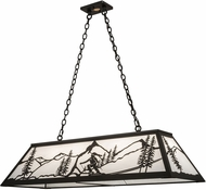 Meyda Tiffany 182506 Alpine Textured Black Island Light Fixture