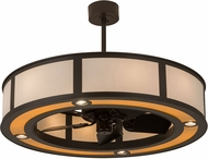 Meyda Tiffany 182935 Maple Wood Timeless Bronze Chandel-Air Fan Light Fixture