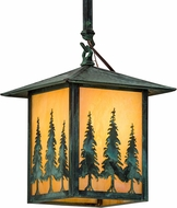 Meyda Tiffany 185647 Seneca Tall Pines Verde Outdoor Drop Ceiling Light Fixture