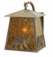 Meyda Tiffany 18603 Stillwater Northwoods Lone Bear 14  Wide Exterior Wall Sconce Lighting