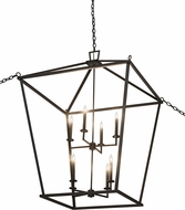 Meyda Tiffany 186535 Kitzi Tapered Textured Black Foyer Light Fixture
