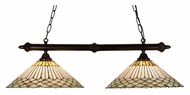 Meyda Tiffany 18856 Jadestone Fishscale Tiffany Mahogany Bronze Finish 49  Tall Kitchen Island Light