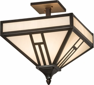 Meyda Tiffany 189545  H  Mission Craftsman Brown Overhead Light Fixture