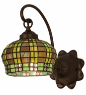 Meyda Tiffany 19012 Jeweled Basket Tiffany Green/Blue Wall Lighting Sconce