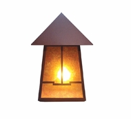Meyda Tiffany 19115 Stillwater Valley View Craftsman Rust Finish 18.5  Tall Outdoor Wall Lighting Sconce