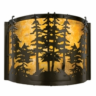 Meyda Tiffany 23824 Tall Pines Timeless Bronze Finish 9  Tall Wall Lighting Fixture