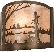 Meyda Tiffany 23886 Quiet Pond Antique Copper / Silver Mica Wall Sconce