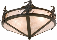 Meyda Tiffany 26878 Alpine Timeless Bronze / Silver Mica Flush Mount Light Fixture