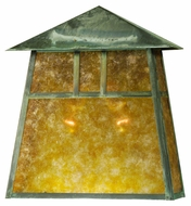 Meyda Tiffany 27213 Stillwater Double Bar Mission 9 Wide Outdoor Exterior Wall Sconce Light