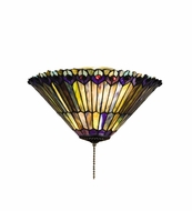 Meyda Tiffany 27438 Tiffany Jeweled Peacock Tiffany 10  Tall Flush Mount Light Fixture
