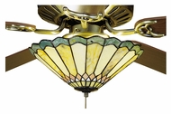 Meyda Tiffany 27449 Jadestone Carousel Tiffany 12  Wide Fan Light Fixture