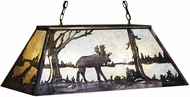 Meyda Tiffany 28529 Moose at Lake Country Antique Copper / Silver Mica Island Lighting