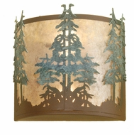 Meyda Tiffany 29327 Tall Pines Rust Finish 12.5  Wide Wall Sconce