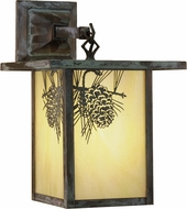Meyda Tiffany 29531 Hyde Park Winter Pine Outdoor Wall Light Fixture
