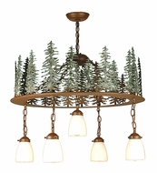Meyda Tiffany 29556 Tall Pines Country Rust Finish 28  Wide Chandelier Light