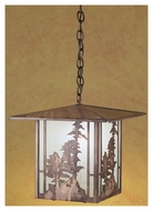 Meyda Tiffany 29608 Tall Pines Antique Copper Finish 15  Wide Foyer Pendant Lighting