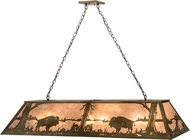 Meyda Tiffany 30148 Buffalo at Lake Antique Copper / Silver Mica Kitchen Island Lighting