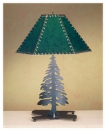 Meyda Tiffany 38884 Tall Pines Rustic Hunter Green Finish 16  Wide Lighting Table Lamp
