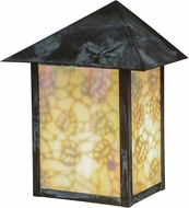 Meyda Tiffany 40779 Seneca Lotus Leaf and Dragonfly Bai Verd Wall Lighting Fixture