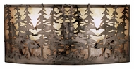 Meyda Tiffany 48082 Tall Pines Antique Copper Finish 24  Wide Lamp Sconce