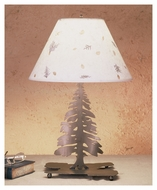 Meyda Tiffany 50603 Tall Pines Rustic 14  Tall Table Lamp