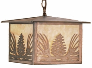 Meyda Tiffany 51002 Mountain Pine Rustic Beige Hanging Pendant Lighting