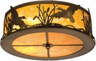 Meyda Tiffany 51239 Ducks in Flight Country Antique Copper / Amber Mica Overhead Light Fixture