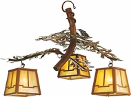 Meyda Tiffany 52350 Pine Branch Valley View Rust / Bai Halogen Lighting Chandelier
