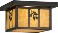 Meyda Tiffany 52808 Hyde Park Sprig Beige Craftsman Ceiling Light