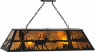 Meyda Tiffany 66092 Elk at Lake Rustic Black / Amber Mica Island Lighting