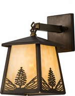 Meyda Tiffany 67278 Stillwater Mountain Pine Antique Copper Wall Lamp